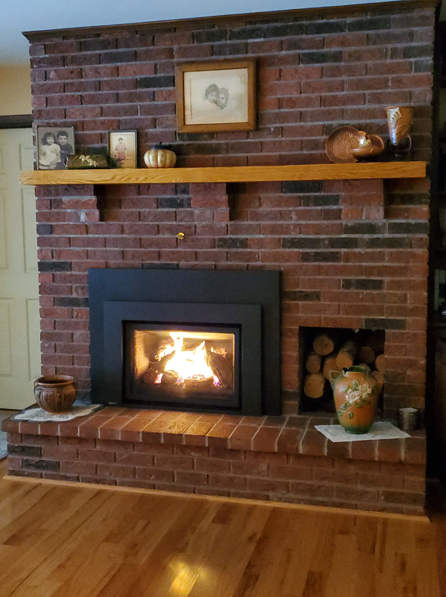 L390 natural gas fireplace insert