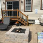 Recently installed fire pit in Lackawanna NY.