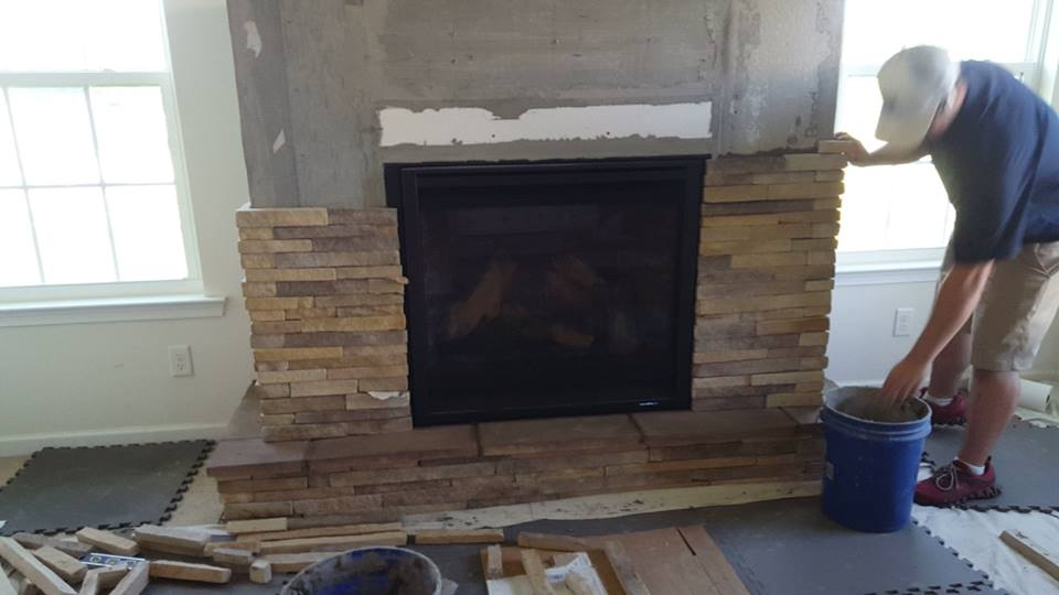 Fireplace Refacing Project, Custom made mantel - Highland Fireplace WNY