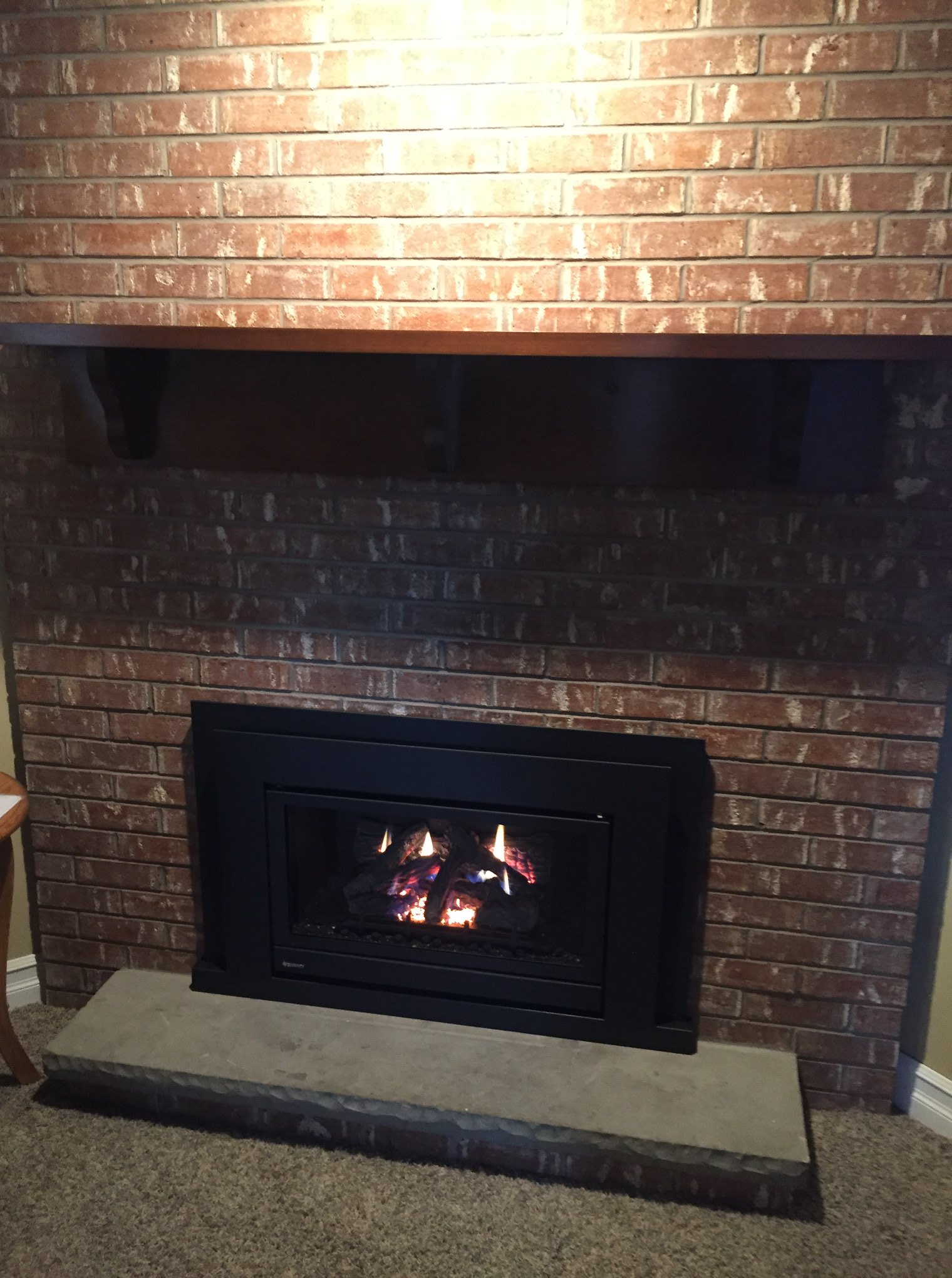 Regency U31-10 Energy Gas Insert into woodburning fireplace